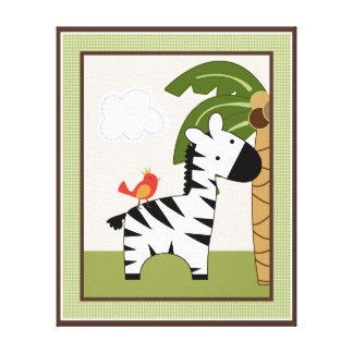 Jungle Buddies/Pals/Friends Zebra Canvas Art Canvas Print