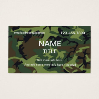 Jungle Camouflage Business Card