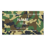 Jungle Camouflage Business Card Templates