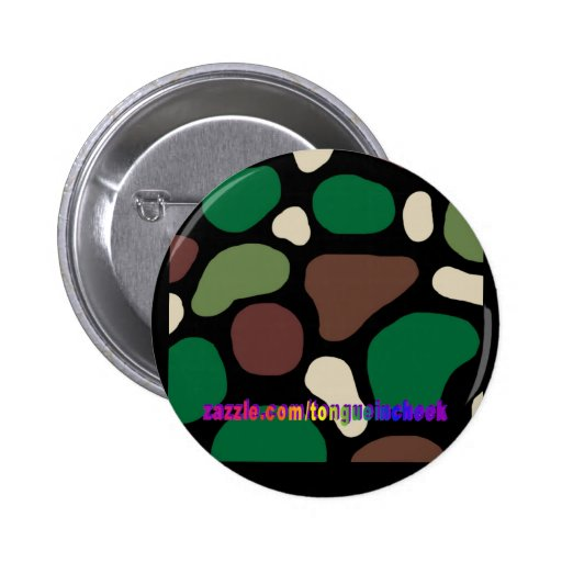 Jungle Camouflage Buttons