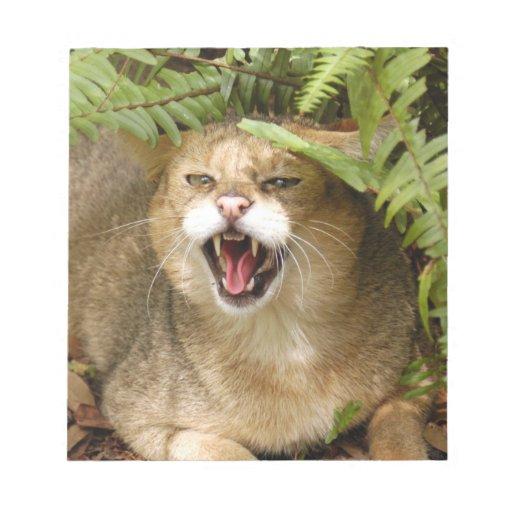 Jungle Cat 01 9x9 Notepad