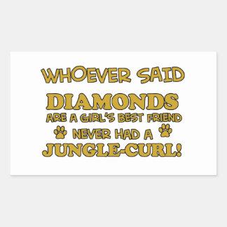 Jungle Cat designs Rectangular Sticker