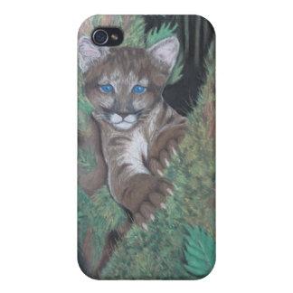 Jungle Cougar Cub iPhone Case iPhone 4 Case