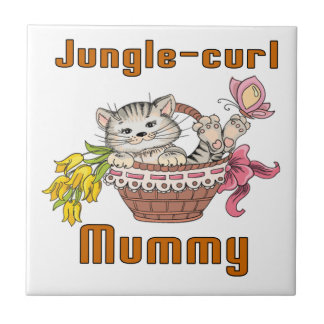 Jungle-curl Cat Mom Tile