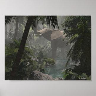 Jungle Elephant Posters