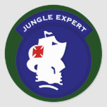 Jungle Expert pocket patch Classic Round Sticker