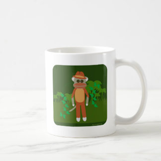 Jungle Explorin Sock Monkey Coffee Mug