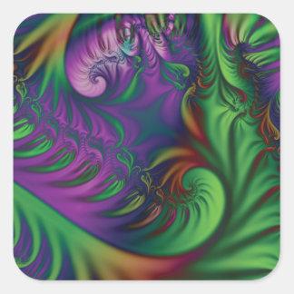 Jungle Exuberance Square Sticker