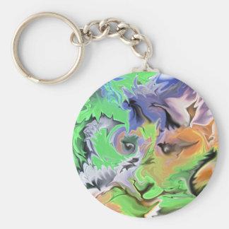 Jungle Eyes Basic Round Button Keychain