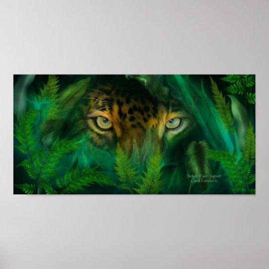 Jungle Eyes Jaguar Art Poster Print Poster Zazzle Com