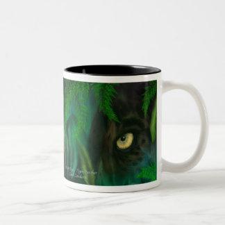 Jungle Eyes - Panther & Tiger Art Mug