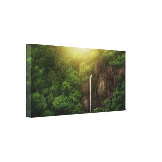 Jungle Falls - Wrapped Canvas Print