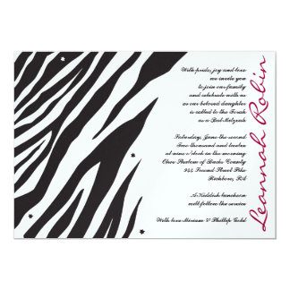 JUNGLE FEVER Bat Bar Mitzvah Invitation Invite