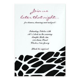 JUNGLE FEVER Bat Bar Mitzvah Party Card
