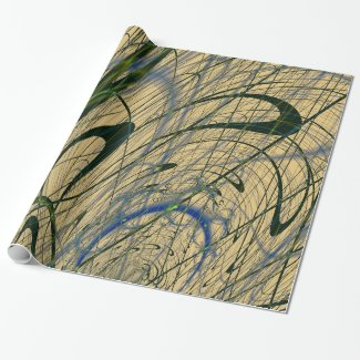 Jungle Fever Fractal Gift Wrapping Paper