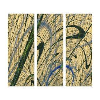 Jungle Fever Fractal Wrapped Canvas Print