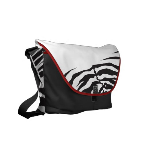 JUNGLE FEVER ZEBRA STRIPES Customizable Bag Courier Bags