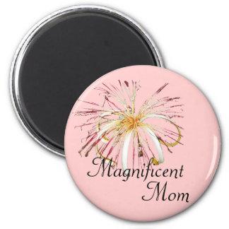 Jungle Flower 2 Inch Round Magnet