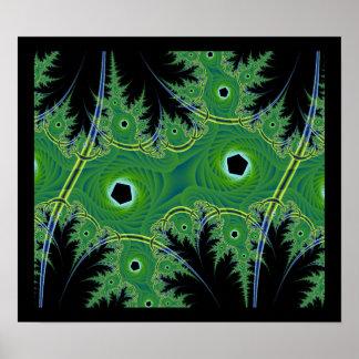 Jungle Fractal Print