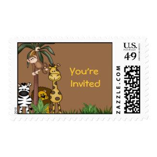 Jungle Friends Postage Stamp