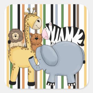 Jungle Friends Square Sticker