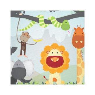 Jungle Fun Canvas Print