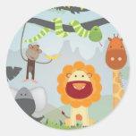 Jungle Fun Classic Round Sticker