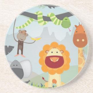 Jungle Fun Beverage Coasters