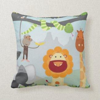 Jungle Fun Pillows Personalized