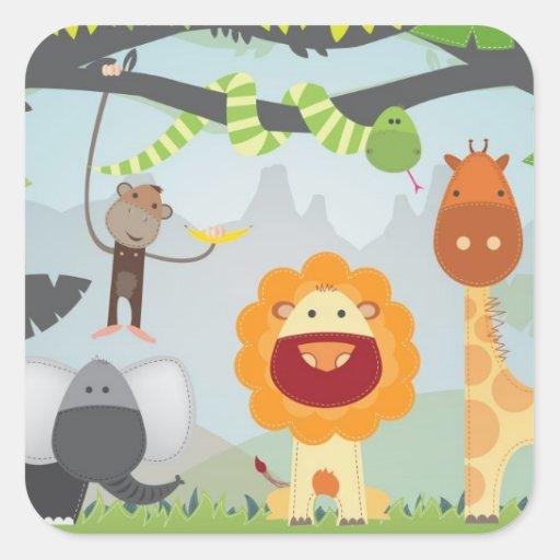 Jungle Fun Sticker