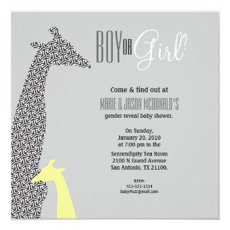 JUNGLE gender reveal BABY SHOWER invitation 2