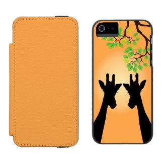 Jungle Giraffes Wallet Case For iPhone SE/5/5s