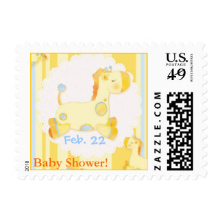 Jungle Giraffes Whimsical Baby Shower Postage