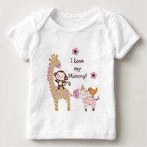 Jungle Girl Animals Baby/Kids Shirt