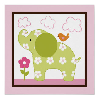 Jungle Girl /Elephant Poster/Print Wall Art