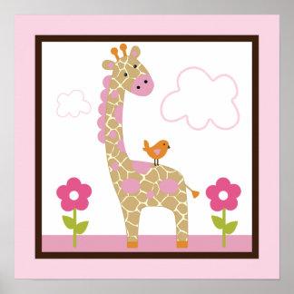 Jungle Girl/Giraffe Poster/Print Wall Art