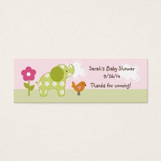 Jungle Girl/Jungle Jill Elephant Favor Tag/Card Mini Business Card