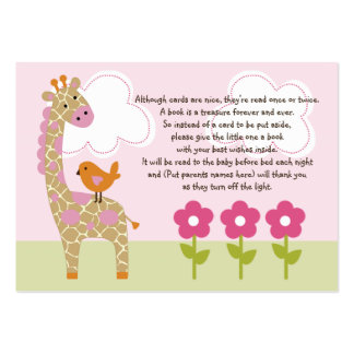 Jungle Girl/Jungle Jill Giraffe Favor Tag/Card Large Business Cards (Pack Of 100)