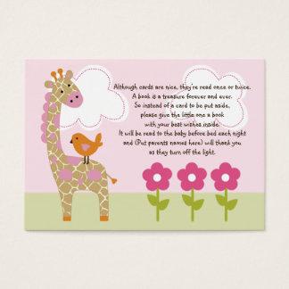 Jungle Girl/Jungle Jill Giraffe Favor Tag/Card Business Card