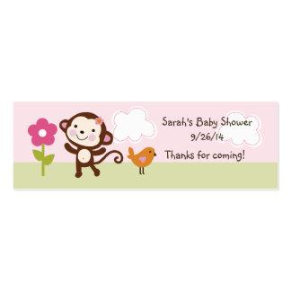 Jungle Girl/Jungle Jill Monkey Favor Tag/Card Mini Business Card