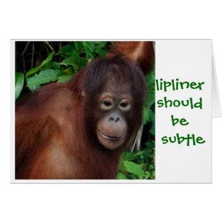 Jungle Girl Lipstick Beauty Advice Greeting Card
