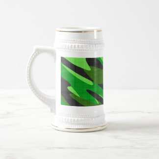 jungle green army camouflage textured 18 oz beer stein