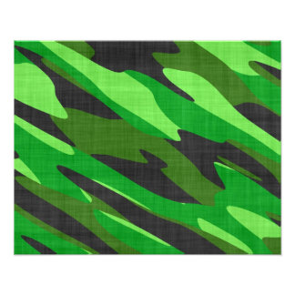 jungle green army camouflage textured photo print