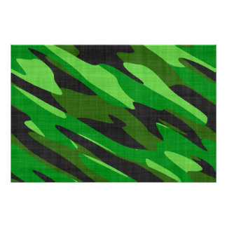 jungle green army camouflage textured poster
