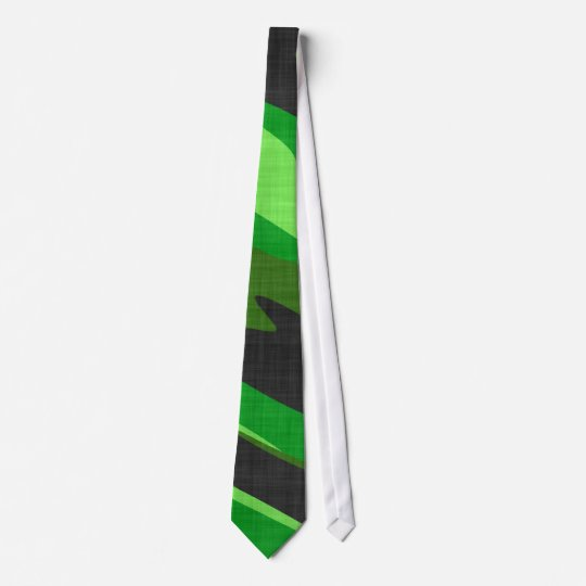 jungle green army camouflage textured tie