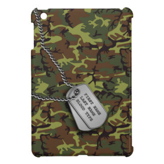 Jungle Green Camo w/ Dog Tags Cover For The iPad Mini