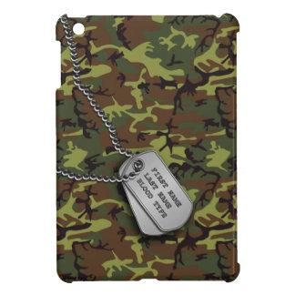 Jungle Green Camo w/ Dog Tags Cover For The iPad Mini