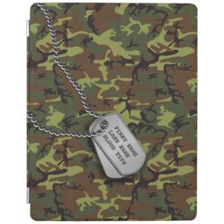 Jungle Green Camo w Dog Tags iPad Cover
