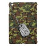 Jungle Green Camo w/ Dog Tags iPad Mini Case