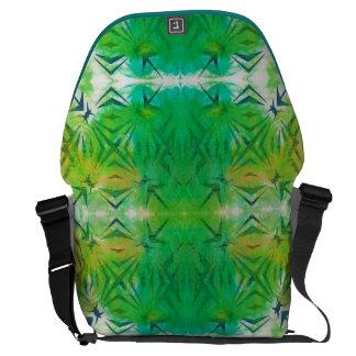 Jungle Green Cyanotype Large Messenger Bag 3